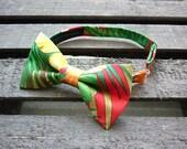 Tropical Bow tie, Hawaii fabric, Hawaii, Funky bow tie, Retro Kitsch, Tahitian Bowtie, kids bow tie, mens bow tie