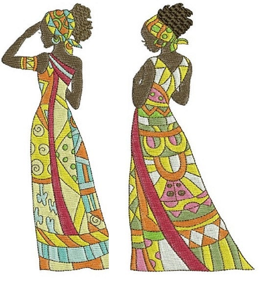 Items similar to african beauties embroidery designs for