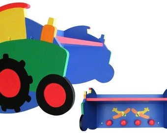 Tractor and Airplane Shelf for the Nursery