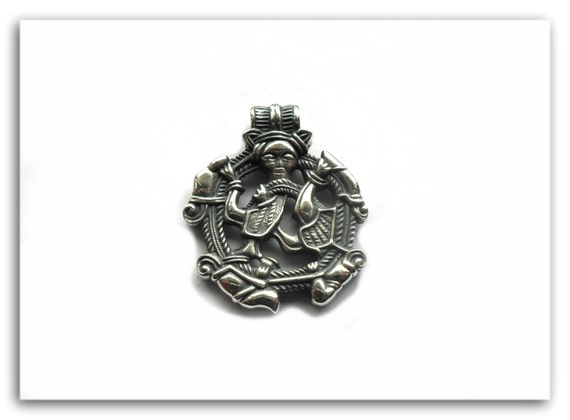 loki viking sterling pendant norse scandinavian replica