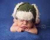 Crochet Hat, Hunting Hat, baby boy, Christmas hat, Elmer Fudd (Newborn, 3-6 Months, 6-12 Months, Toddler/Child)