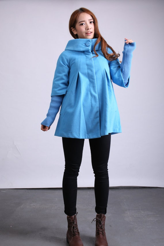 Trendy Cape Top Fashion Looks With Jeans Idea: Items Similar To Camel Cape Wool Coat Trendy Winter Coat