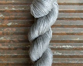 NEW! BEYUL - sw Merino/ Baby Yak / Silk fingering ...'Yurt' - heathered grey / brown