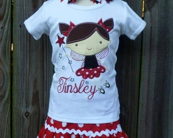 Personalized Fairy Applique Shirt or Onesie Girl
