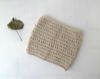 Crochet cowl scarf, cream cowl, circle scarf, chunky crochet scarf, crochet scarves, women gift ideas - MADE TO ORDER