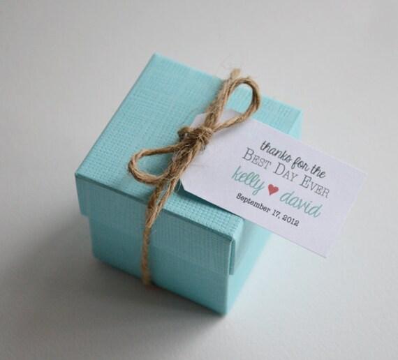 Best Day Ever Custom Wedding Favor & Gift Tags White Matte