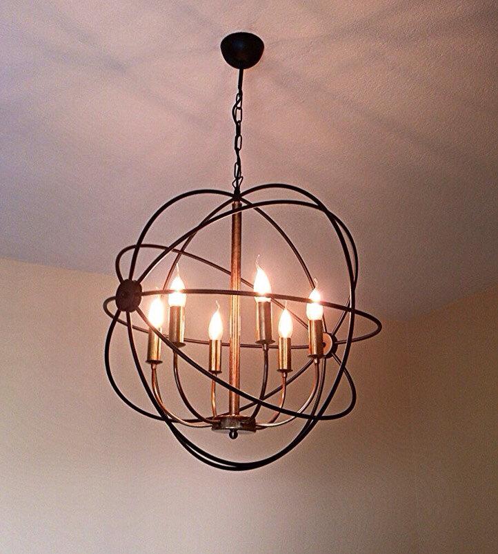 orbit handmade pendant light chandelier edison restoration. Black Bedroom Furniture Sets. Home Design Ideas