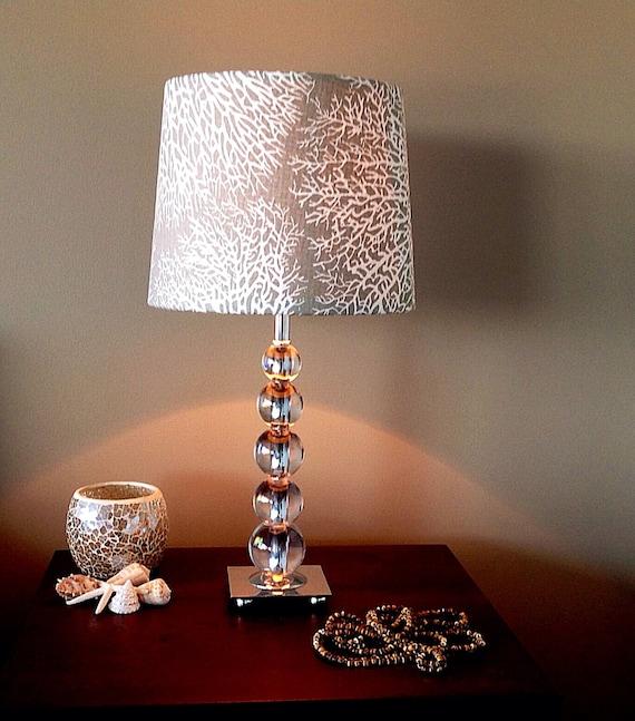 lampshade coastal decor lamp shade beach decor coastal decor. Black Bedroom Furniture Sets. Home Design Ideas