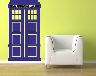 Sci-fi art inspired by Dr Who TRADIS vinyl wall decal