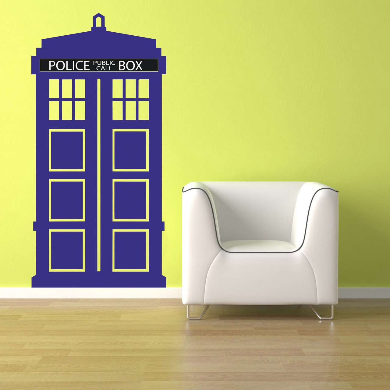sci fi art inspired by dr who tradis vinyl wall decal. Black Bedroom Furniture Sets. Home Design Ideas