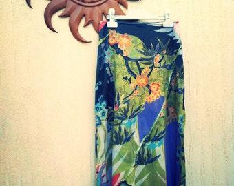 Vintage print skirt-vintage shirt skirt-retro skirt-
