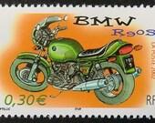 BMW Motorcycles & Motorbike France -Handmade Framed Postage Stamp Art 14393