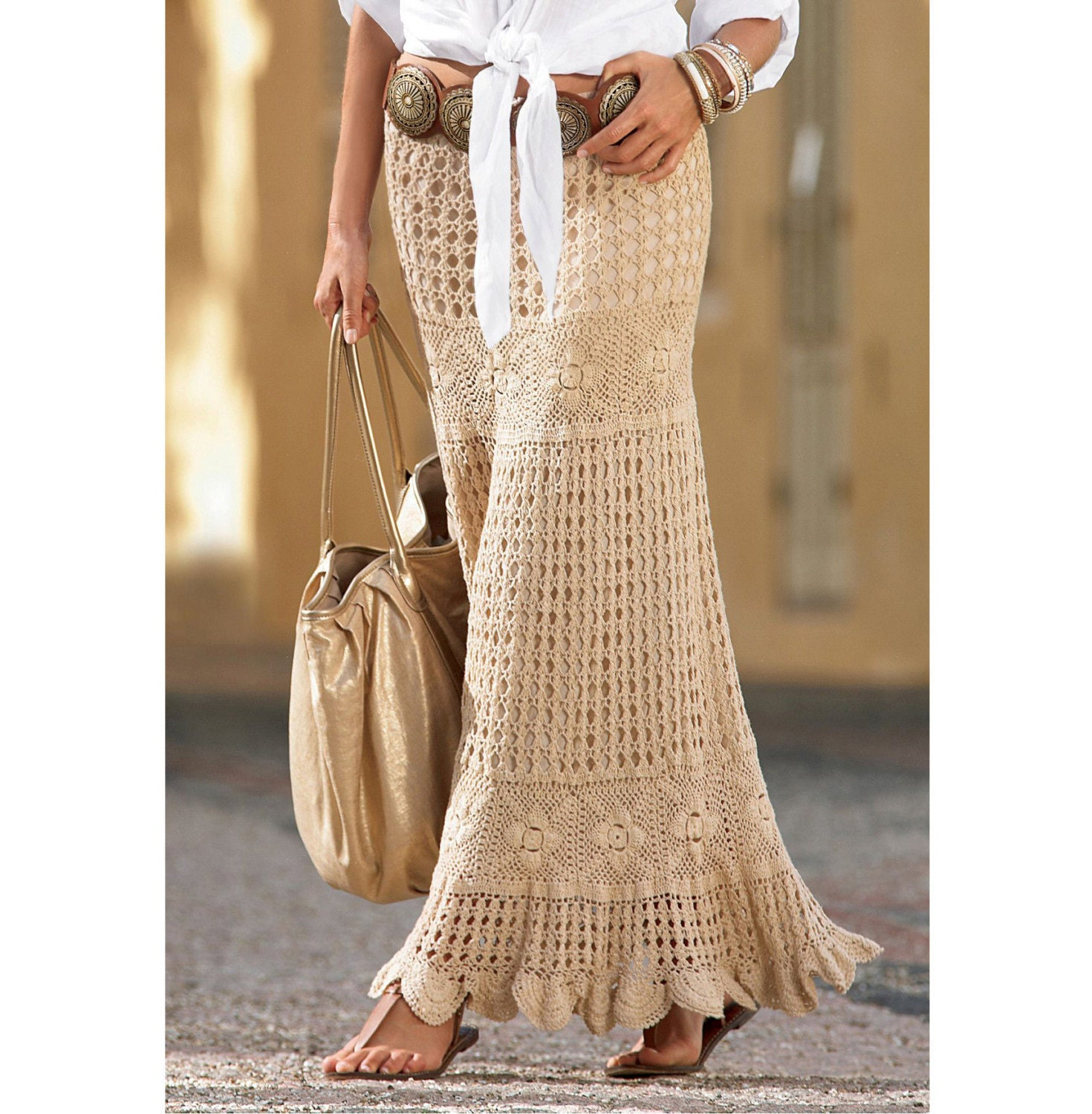 Crochet Skirt : Crochet maxi skirt PATTERN detailed by CONCEPTcreativeSTORE