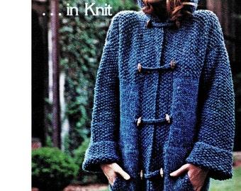 Easy Blue Stadium Knit Sweater Coat Pattern