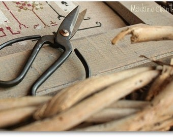 Vintage scissors industrial style