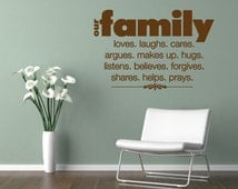 Family Vinyl Quotes. Our Family - CODE 002