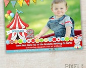 Circus Birthday Invitation, Big Top Party Invitation, Circus Party Invitation, Party Invitation, Photo Card