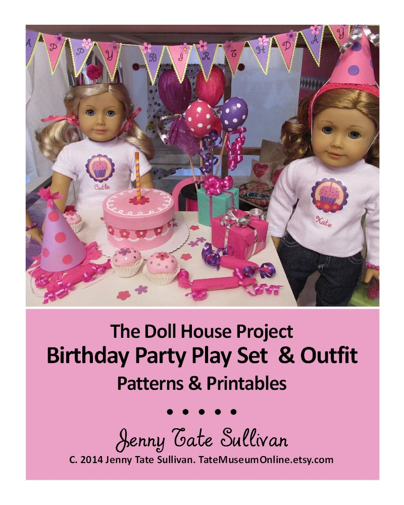 American Girl 18 Inch Doll House _ Birthday Party Play Set