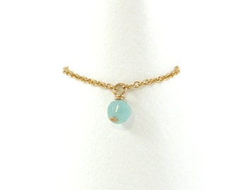 Gold-filled ring, Amazonite
