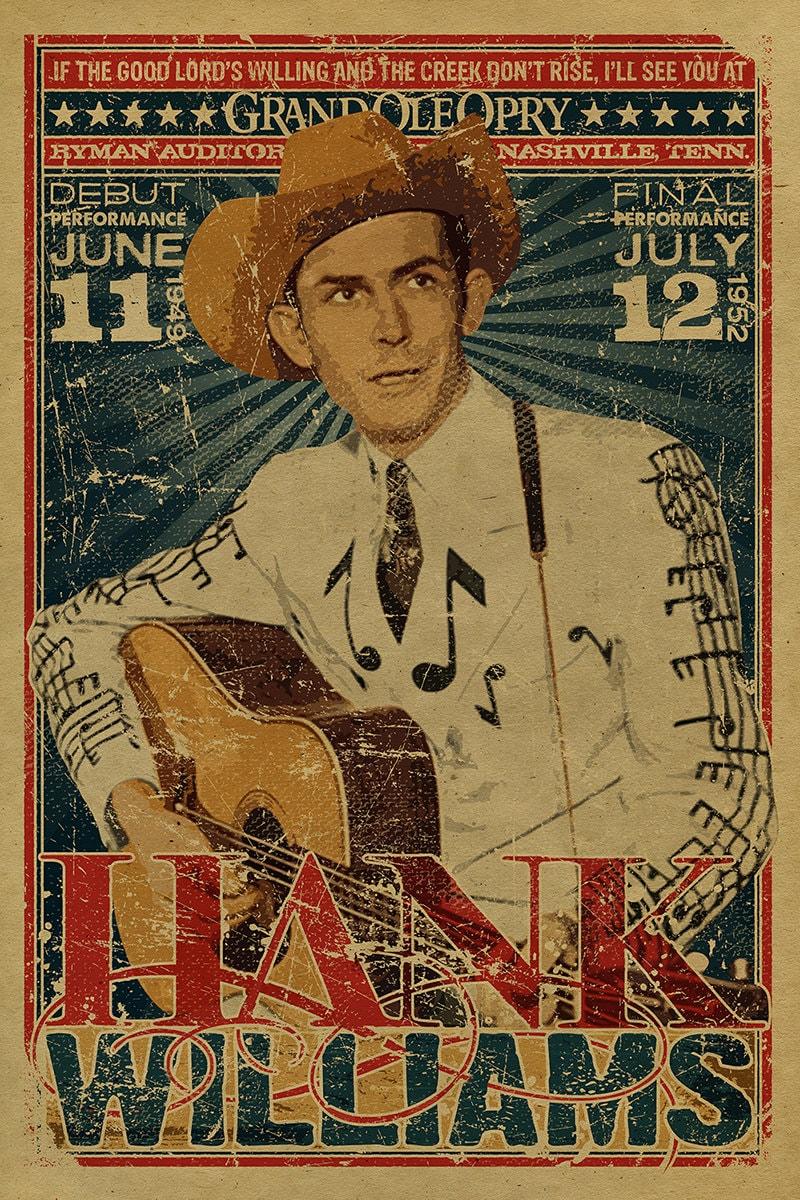 Hank Williams Sr Poster Grand Ole Opry Ryman Auditorium