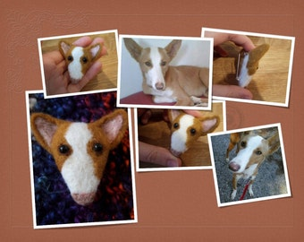Needle Felted Cute Style Dog Brooch - Podenco MADE TO ORDER