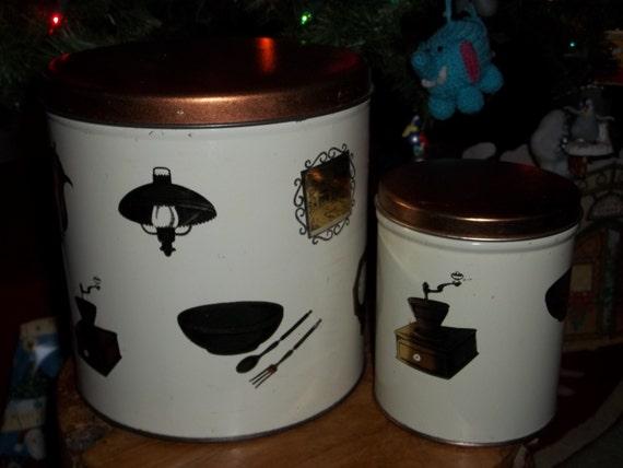vintage kitchen canister set retro canister set retro