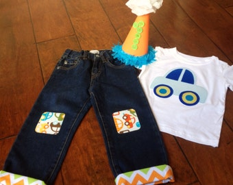 baby boy first 1st birthday outfit including birthday hat boy car ...