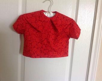 """Girl's Vintage Cotton Blouse Size 3--""""Tillie"""""""