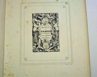 French Architecture Print, Title Page L'Art Architectural en France