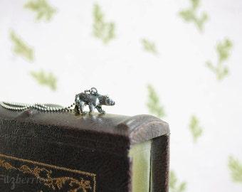 Tiny bear pendant - Animal charm necklace - Gift for women - Little bear necklace - Animal charm pendant necklace - Bear jewelry