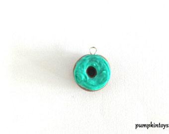 Aqua Donut Cute Clay Charm
