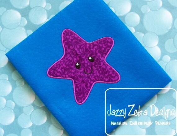 Starfish Appliqué embroidery Design - star fish Appliqué Design - starfish Appliqué Design - beach Appliqué Design - summer Applique Design