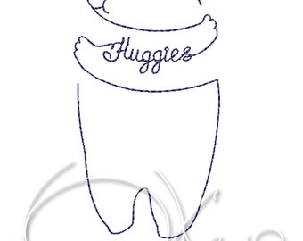 MACHINE EMBROIDERY FILE -  Bear's huggies