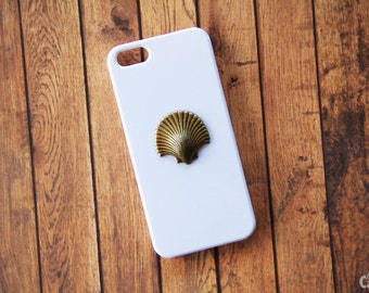 White iPhone 5s Case Sea Shell Case iPhone 6s iPhone 7 Case Seashells Cam Ocean iPhone Case White iPhone 5c Case iPhone 7 Plus Case iPhone 6