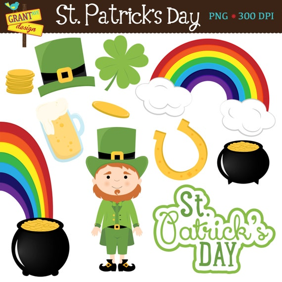 St. Patrick's Day Clip Art - Saint Patrick's Day Clipart - Personal ...