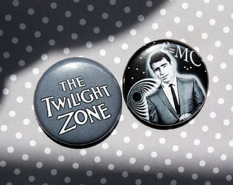 The Twilight Zone- One Inch Pinback Button magnet Set