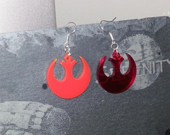 Star Wars Rebel Earrings, Geek, Nerd, Great Gift - Laser Cut - Made in UK