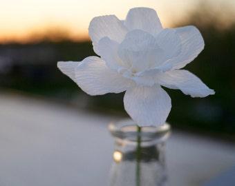 White Paper Gardenia – Handmade Paper Flowers, Gardenias – Home Decor, Office Decor, Restaurant Decor, Gift, Bouquet, Wedding
