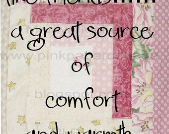 """Digital Printable Quilting Verse """"friends"""" Subway Art (2) INSTANT DOWNLOADS to frame, for cards, altered art, tags, high res JPG image.."""