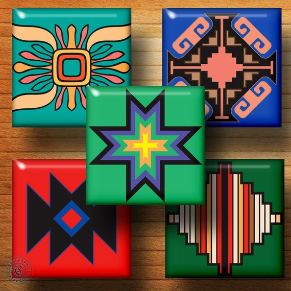 Native american designs inch tiles by squarecobra for Native american tile designs