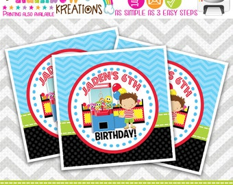 FVTAGS-665: DIY - Arcade Fun And Games 4 Favor Tags Or Stickers