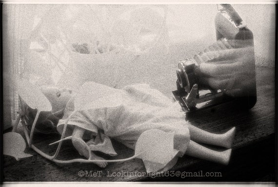 Infrared Photo | Infrared Film Photo | Antique Doll | Vintage Brownie Camera Photo | Surreal Sepia Print | Limited Edition | Fine Art Photo