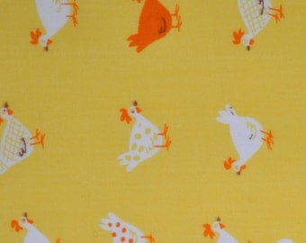 Chickens - Heather Ross Munki Munki - Leg D - Cotton Poplin Fabric