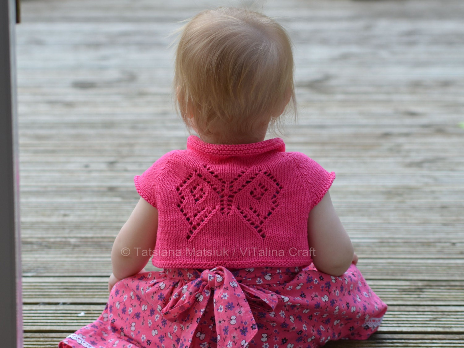 Knitting Pattern Baby Bolero Cardigan : Knitting Pattern Papillon Bolero Cardigan Baby Child