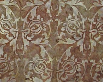 Brown Scroll Batik -  1  yard -  (BT090)
