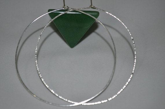 Hoop Earrings - Silver Earrings - Textured Circle Earrings - Large Hoop Earrings Silver