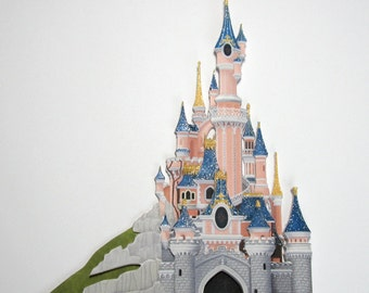 Sleeping Beauty's Castle - handmade Disney castle scrapbooking embellishment
