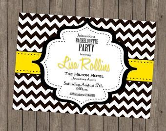 Printable Bachelorette Invitation - Lisa Yellow