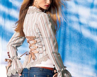 streampunk custom dress fishtail skirt corset jacket
