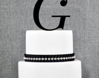 Letter G - Initial Cake Topper, Monogram Wedding Cake Topper, Custom Cake Topper
